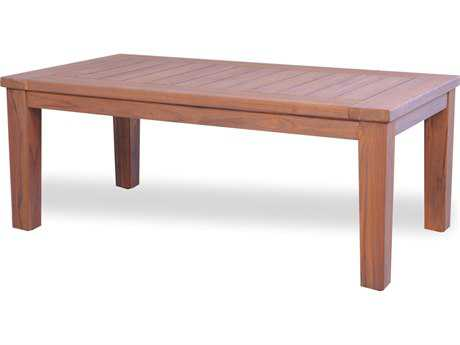 Lloyd Flanders Teak 45'' x 23.5'' Rectangular Tapered Leg Cocktail Table