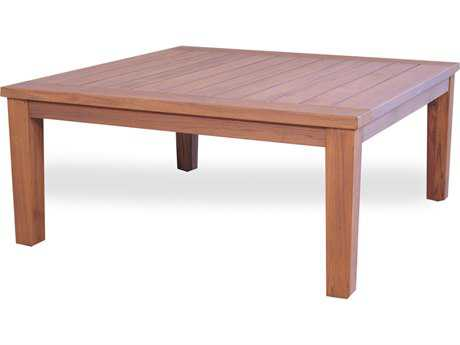 Lloyd Flanders Teak 40.25'' Square Tapered Leg Cocktail Table