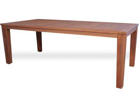 Lloyd Flanders Teak 72'' x 39.25'' Rectangular Tapered Leg Dining Table