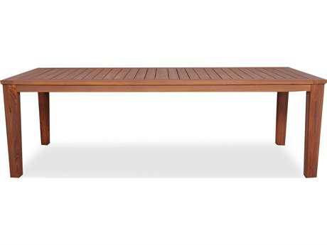 Lloyd Flanders Teak 86'' x 39.5'' Rectangular Tapered Leg Dining Table