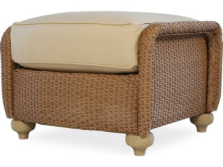 Lloyd Flanders Oxford Wicker Ottoman PatioLiving