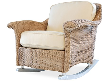 Lloyd Flanders Oxford Wicker Rocker Lounge Chair