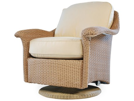 Lloyd Flanders Oxford Wicker Swivel Rocker Lounge Chair