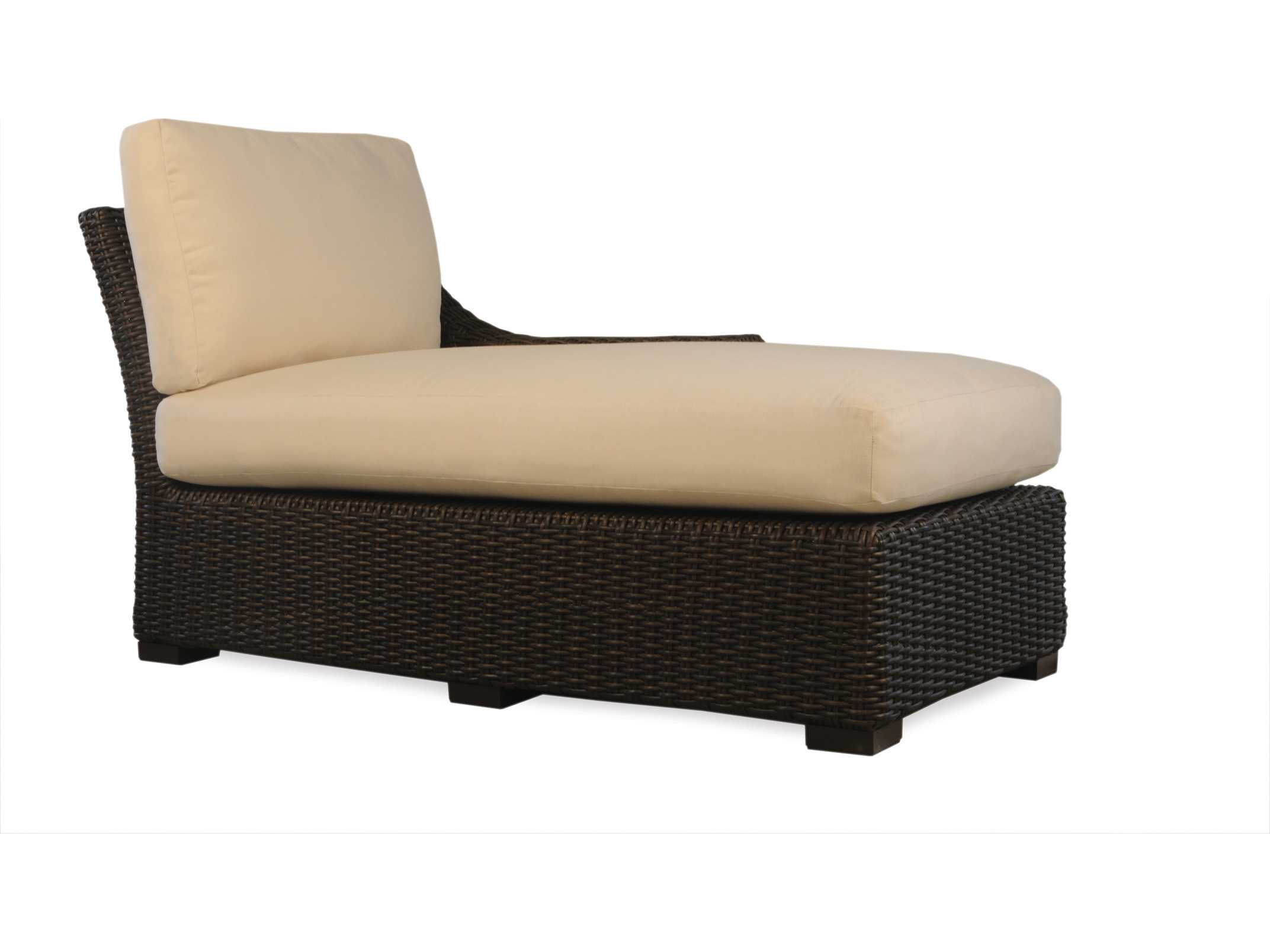 Lloyd flanders mesa wicker left arm chaise lounge 298026 for Arm chaise lounge