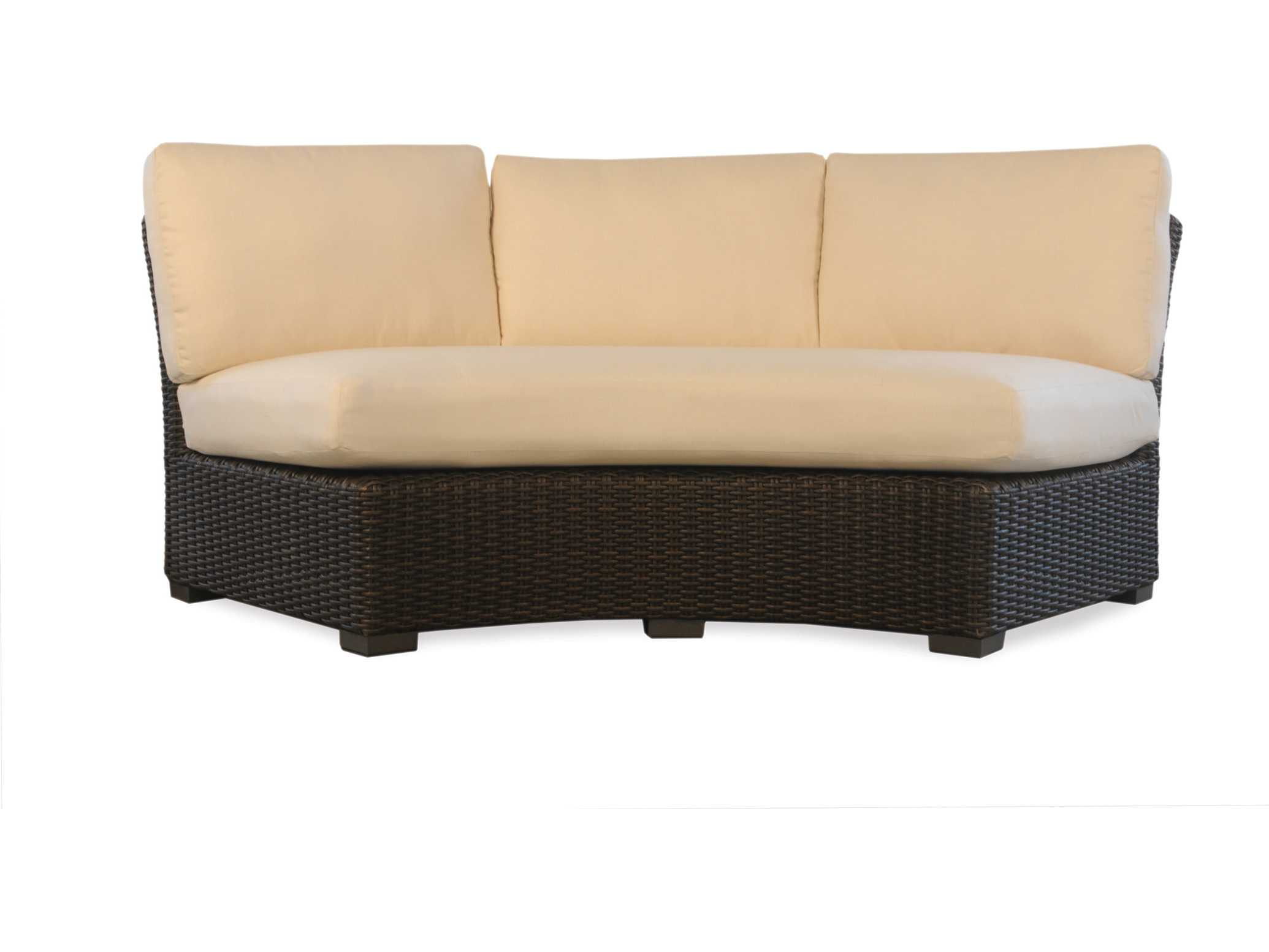 Lloyd Flanders Mesa Wicker Curved Sofa Sectional