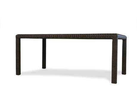 Lloyd Flanders Mesa Wicker 72'' Rectangular Dining Table with lay on glass