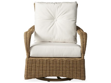 Lloyd Flanders Magnolia Wicker Swivel Glider Lounge Chair