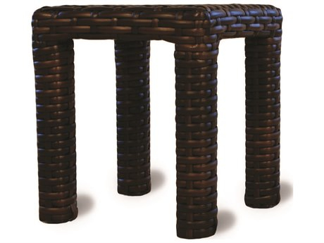 Lloyd Flanders Contempo Wicker 16''Wide Square End Table/Stool PatioLiving