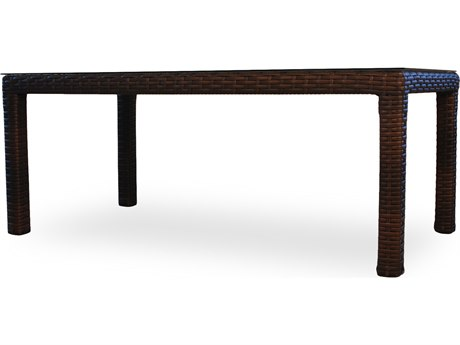 Lloyd Flanders Contempo Wicker 72'' x 40'' Rectangular Dining Table with Umbrella Hole