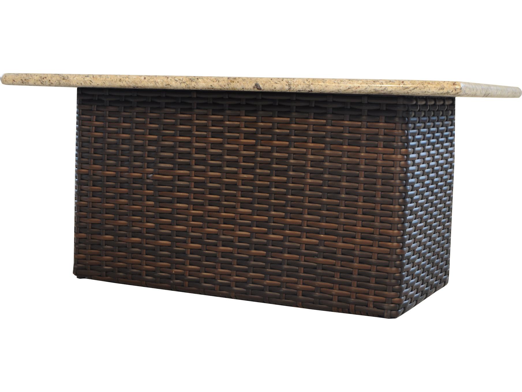 Lloyd flanders contempo wicker 52 39 39 x 32 39 39 rectangular for Rectangular stone fire pit