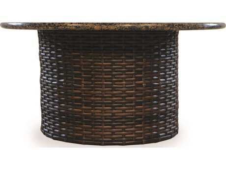 Lloyd Flanders Contempo Wicker 48'' Round Stone Fire Pit Table
