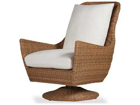 Lloyd Flanders Tobago Wicker High Back Swivel Lounge Chair