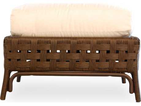 Lloyd Flanders Haven Wicker Ottoman