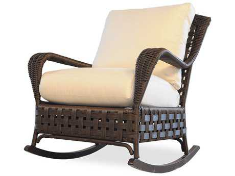Lloyd Flanders Haven Wicker Rocker Lounge Chair