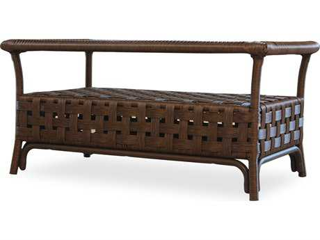 Lloyd Flanders Haven Wicker 24'' x 18'' Rectangular Coffee Table