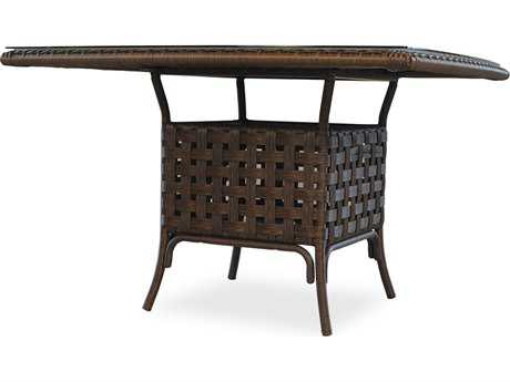 Lloyd Flanders Haven Wicker 47'' Square Dining Table with Umbrella Hole PatioLiving