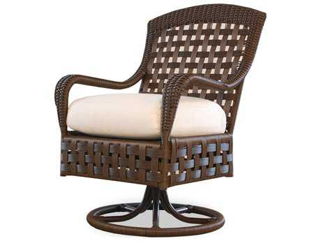 Lloyd Flanders Haven Wicker Swivel Dining Chair