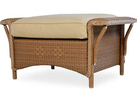Lloyd Flanders Nantucket Wicker Ottoman