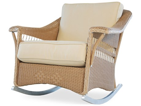 Lloyd Flanders Nantucket Wicker Rocker Lounge Chair