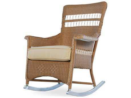 Lloyd Flanders Nantucket Wicker Rocker Lounge Chair