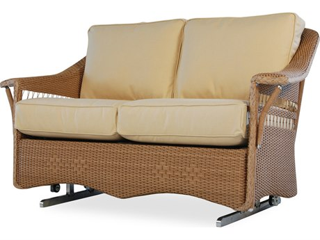 Lloyd Flanders Nantucket Wicker Glider Loveseat