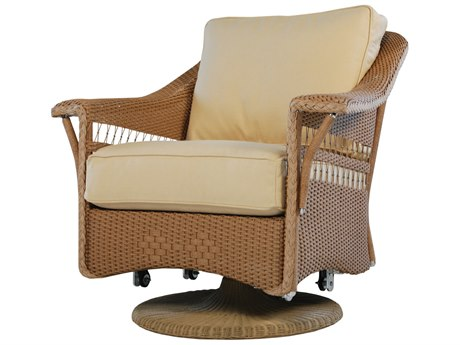 Lloyd Flanders Nantucket Wicker Swivel Rocker Lounge Chair