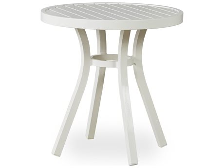 Lloyd Flanders Lux Aluminum 27''Wide Round Slat Top Bistro Table
