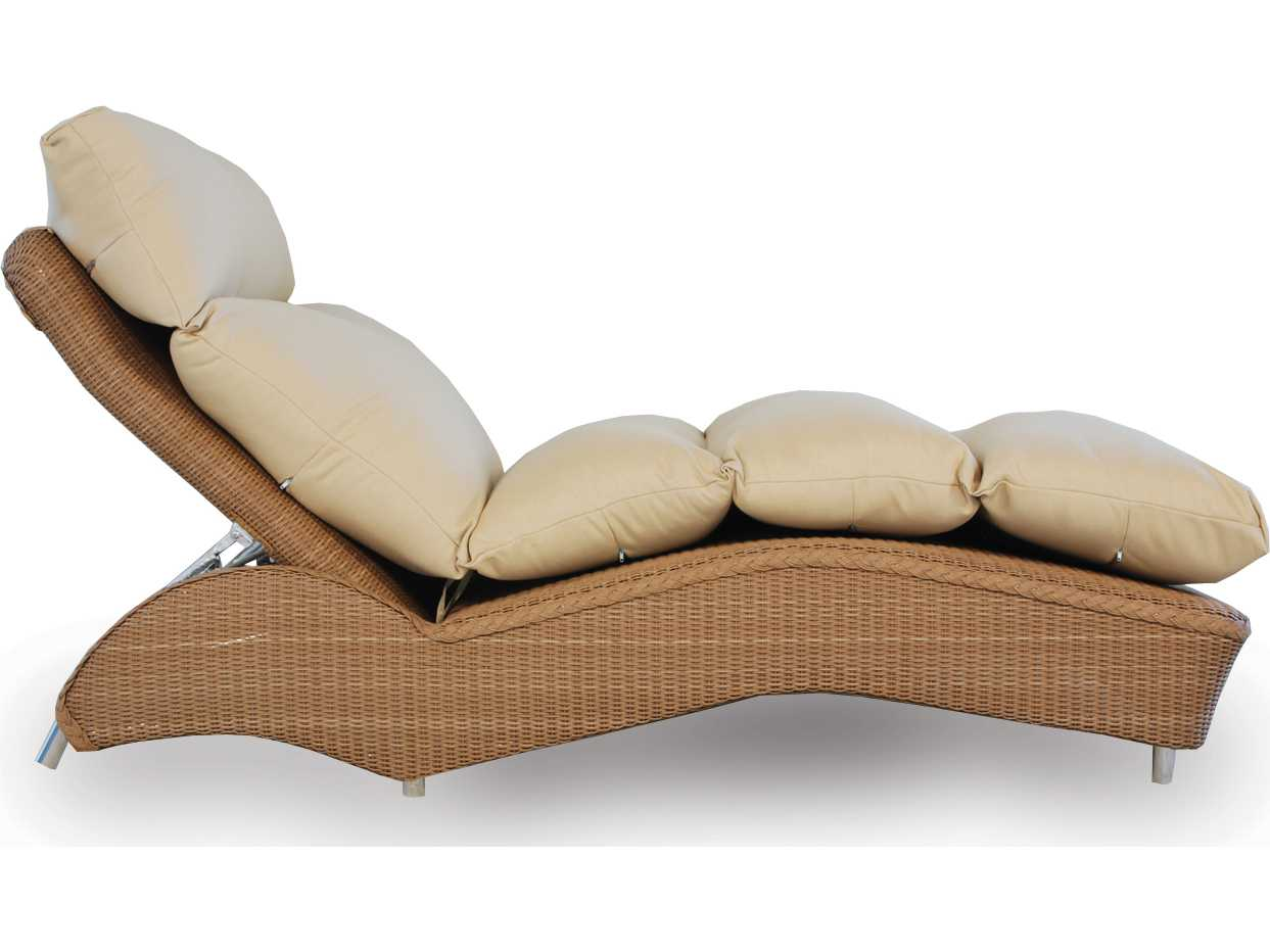 Lloyd flanders wicker cushion adjustable chaise lf6025 for Chaise lounge accessories