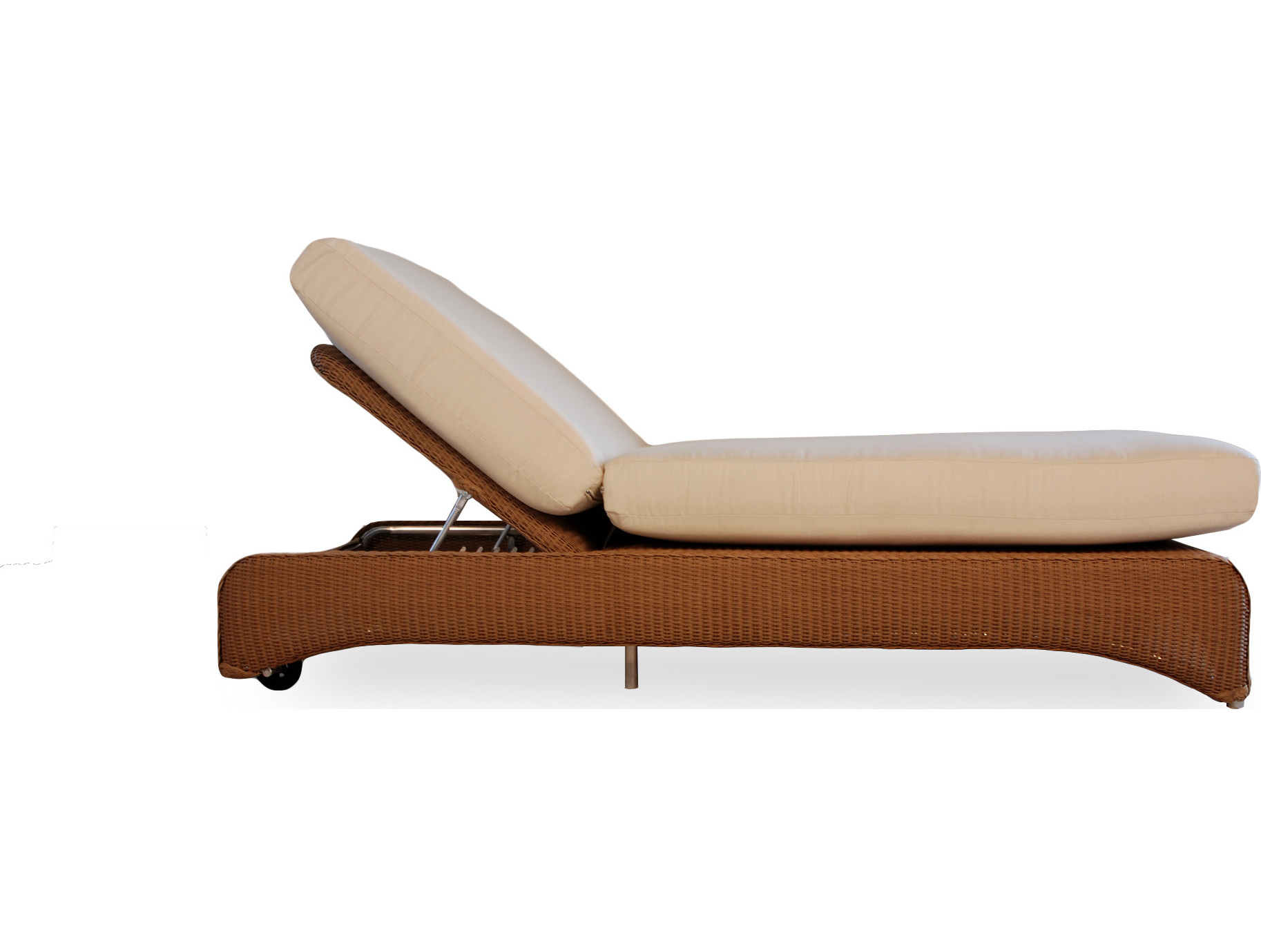 Lloyd flanders wicker double pool chaise lf6040 for Chaise lounge accessories