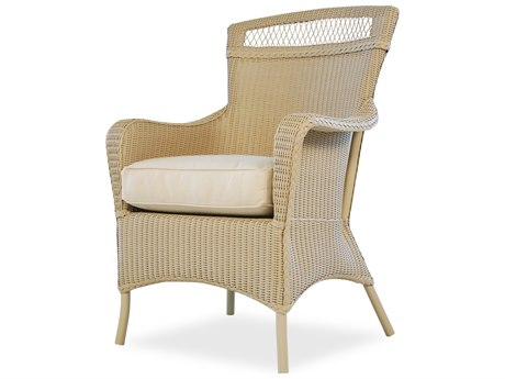 Lloyd Flanders Wicker Cushion Arm Dining Chair