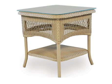 Lloyd Flanders Dining & Accessory Wicker  21''Wide Square End Table PatioLiving