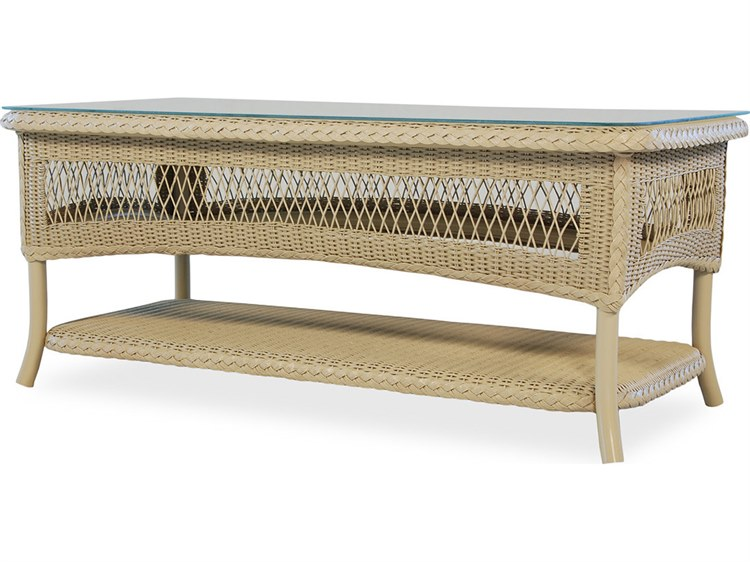Lloyd Flanders Wicker 42'' x 20.5'' Rectangular Cocktail Table