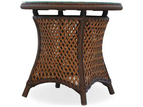 Lloyd Flanders Grand Traverse Wicker 24''Wide Round End Table PatioLiving