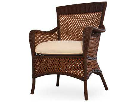 Lloyd Flanders Grand Traverse Wicker Cushion Arm Dining Chair