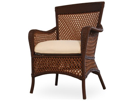 Lloyd Flanders Grand Traverse Wicker Dining Arm Chair PatioLiving