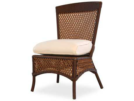 Lloyd Flanders Grand Traverse Wicker Cushion Side Dining Chair (Sold in 2)