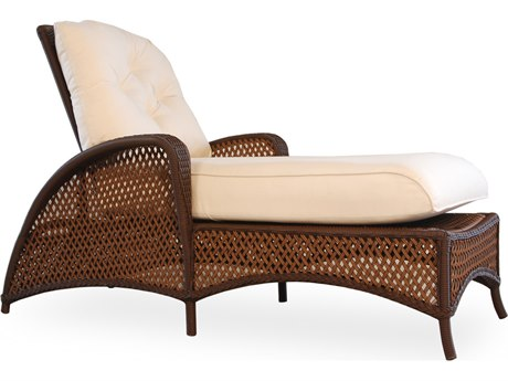 Lloyd Flanders Grand Traverse Wicker Cushion Arm Adjustable Chaise