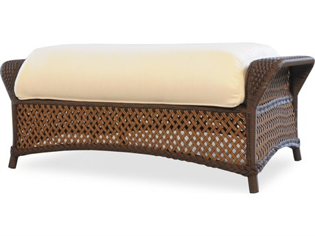 Lloyd Flanders Grand Traverse Wicker Ottoman PatioLiving