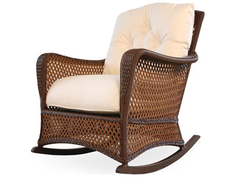 Lloyd Flanders Grand Traverse Wicker Rocker Lounge Chair