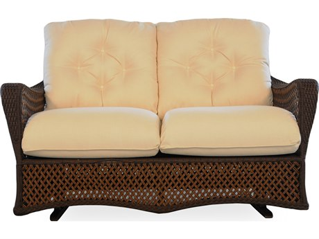 Lloyd Flanders Grand Traverse Glider Wicker Loveseat