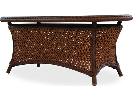 Lloyd Flanders Grand Traverse Wicker 42.5'' x 25.5'' Oval Coffee Table