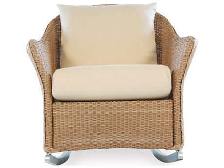 Lloyd Flanders Weekend Retreat Quick Ship Wicker Rocker Lounge Chair