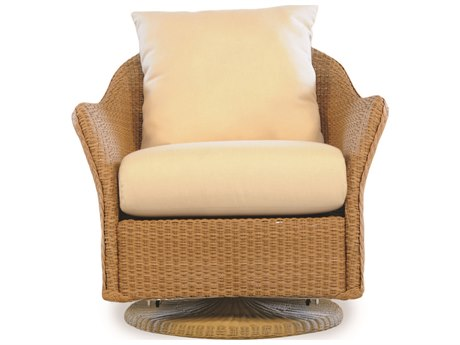 Lloyd Flanders Weekend Retreat Wicker Swivel Glider Lounge Chair