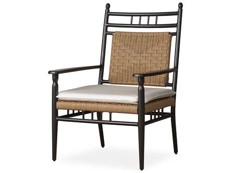 Lloyd Flanders Low Country Antique Black Aluminum Lounge Chair PatioLiving