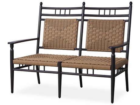 Lloyd Flanders Low Country Antique Black Aluminum Loveseat PatioLiving