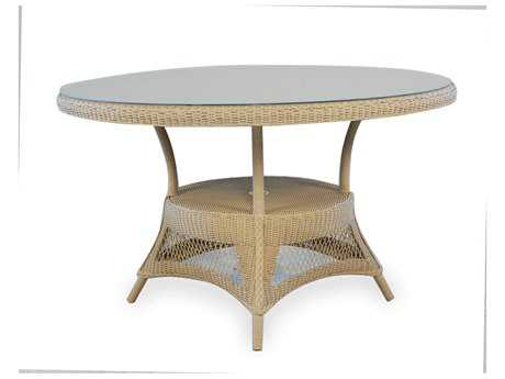 Lloyd Flanders Wicker 49'' Round Dining Table with Umbrella Hole
