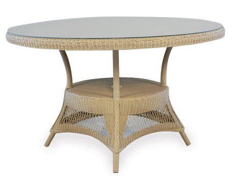 Lloyd Flanders Dining & Accessory Wicker  49''Wide Round Dining Table with Umbrella Hole