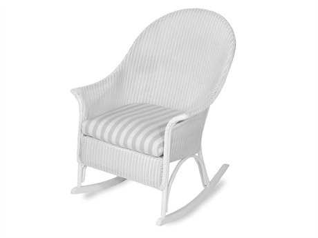 Lloyd Flanders Wicker Cushion Arm Rocker Lounge Chair
