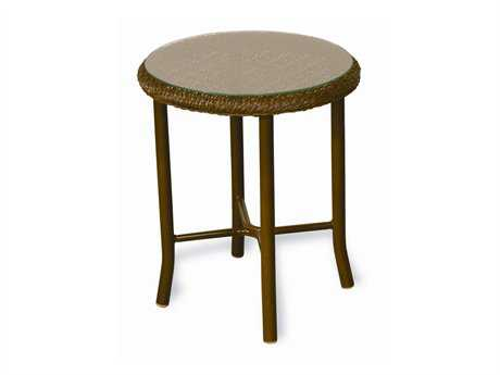 Lloyd Flanders Weekend Retreat Wicker 20'' Round End Table
