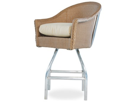 Lloyd Flanders Wicker Cushion Arm Bar Stool